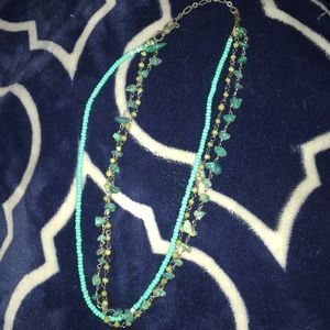 Baby blue triple necklace